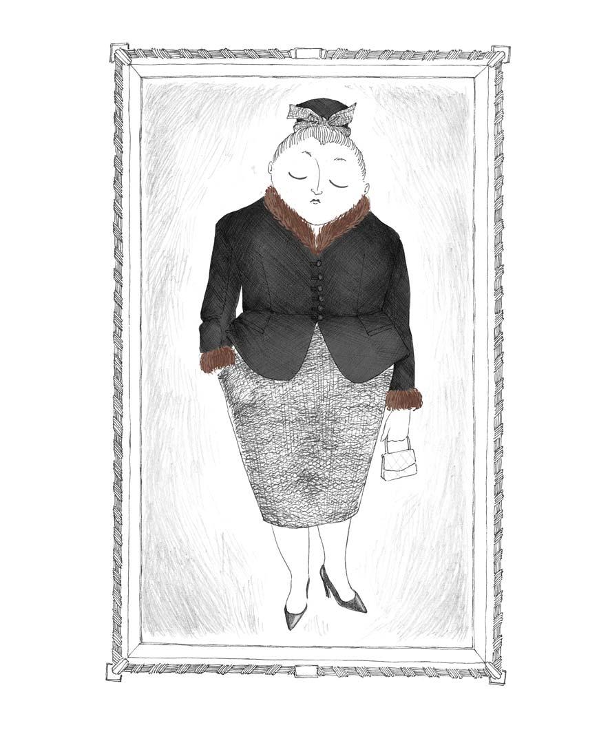 madame-leur-grand-mère-encadrée